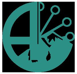 Алмико Логотип Blue
